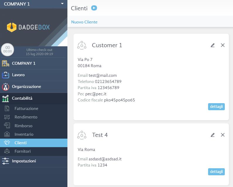 clienti - software di timbratura online