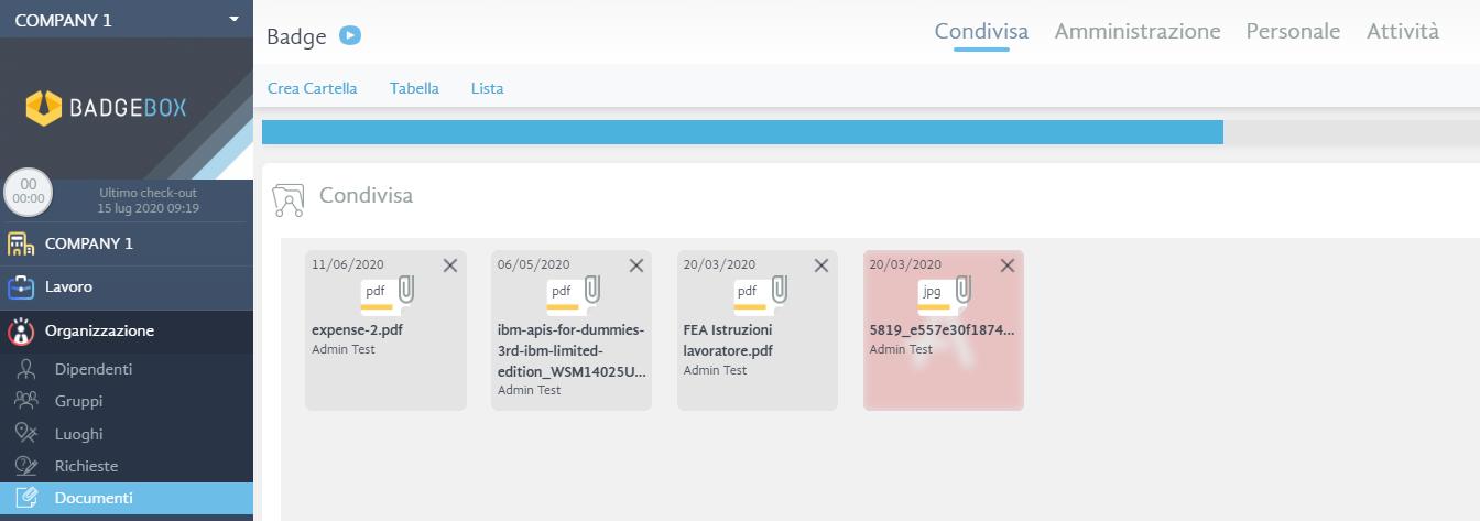 documenti - software di timbratura online